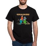 Four Calling Birds Black T-Shirt