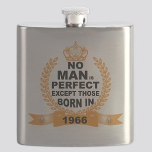No Man is Perfect Except Those Born in 1966 Flask