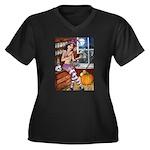 Love Spell Women's Plus Size V-Neck Dark T-Shirt