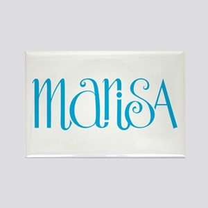 Marisa turquoise blue Rectangle Magnet