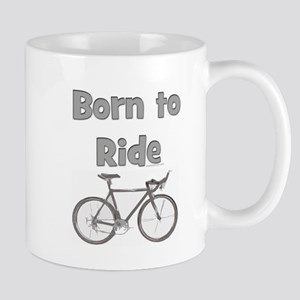 born to ride with bike update copy Mugs