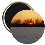 "Winter Sunset 0208 2.25"" Magnet (10 pack)"