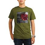 Red Autumn Leaf Organic Men's T-Shirt (dark)