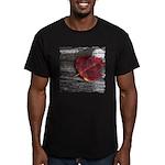 Red Autumn Leaf Men's Fitted T-Shirt (dark)