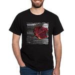 Red Autumn Leaf Dark T-Shirt