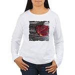 Red Autumn Leaf Women's Long Sleeve T-Shirt