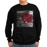 Red Autumn Leaf Sweatshirt (dark)