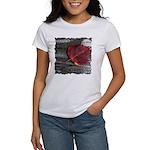 Red Autumn Leaf Women's T-Shirt