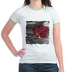 Red Autumn Leaf Jr. Ringer T-Shirt