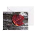 Red Autumn Leaf Greeting Cards (Pk of 10)