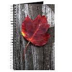 Red Autumn Leaf Journal