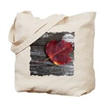 Red Autumn Leaf Tote Bag