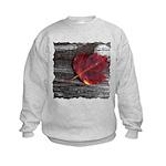 Red Autumn Leaf Kids Sweatshirt