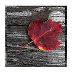 Red Autumn Leaf Tile Coaster