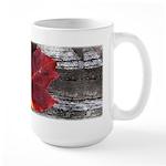 Red Autumn Leaf Large Mug