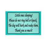 Little Ones Sleeping Rectangle Magnet