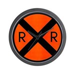 RR Crossing Sign Wall Clock