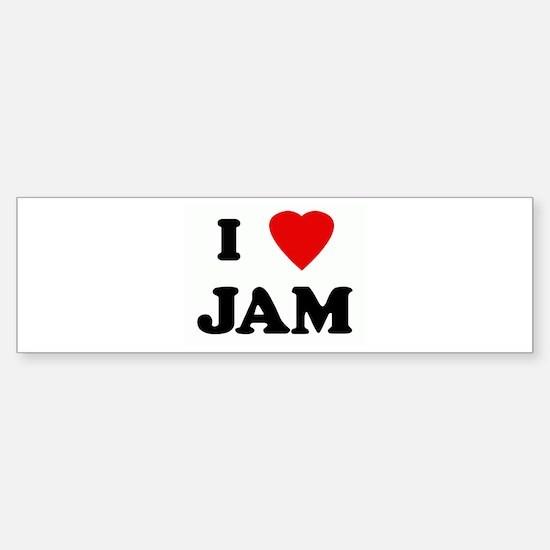 I Love JAM Bumper Bumper Bumper Sticker