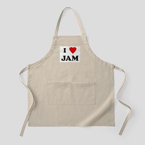 I Love JAM BBQ Apron