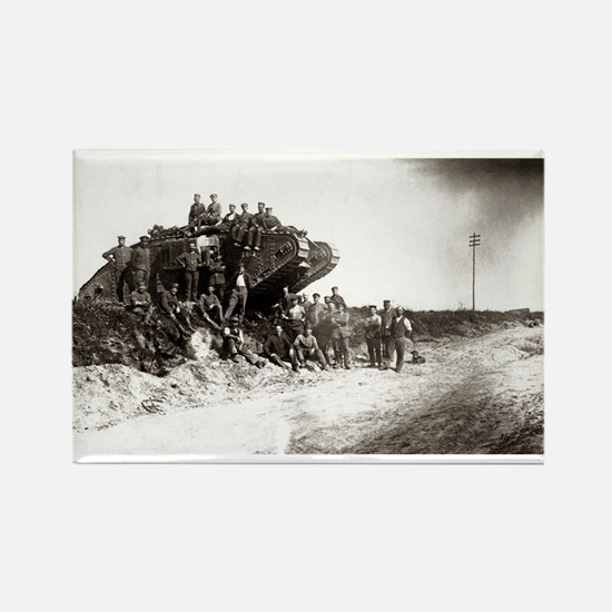 WWI Western Front Rectangle Magnet