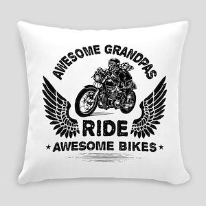 Biker Grandpa Everyday Pillow