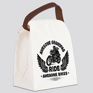Biker Grandpa Canvas Lunch Bag