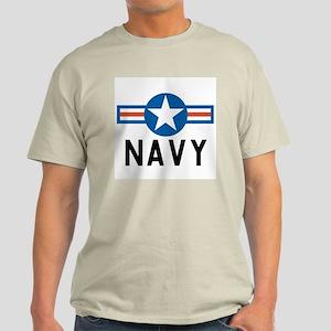 Navy Roundel Ash Grey T-Shirt