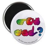 Rainbow GOT ASL? Magnet