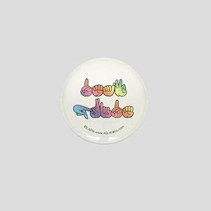 Pastel DEAF PRIDE Mini Button