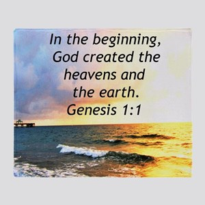 GENESIS 1:1 Throw Blanket