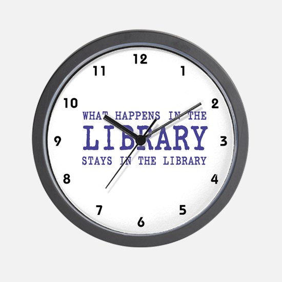In the Library Wall Clock