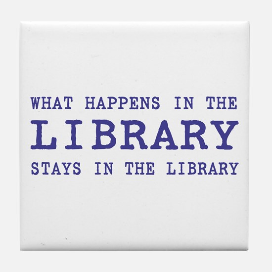 In the Library Tile Coaster