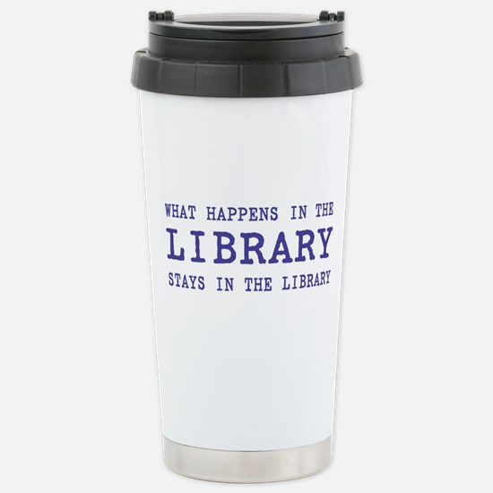 In the Library Stainless Steel Travel Mug