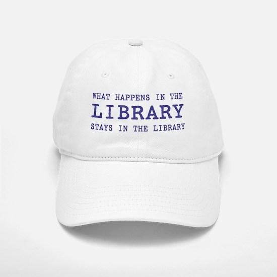 In the Library Baseball Baseball Cap