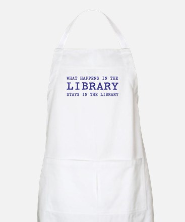In the Library BBQ Apron
