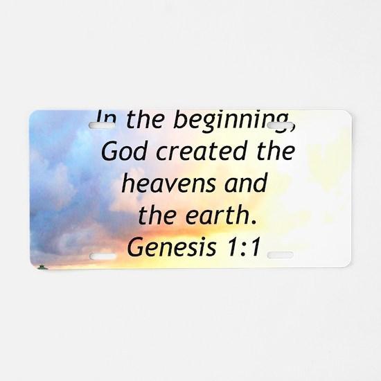 GENESIS 1:1 Aluminum License Plate