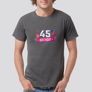 45th Birthday Party Balloons Banner Gift I T-Shirt