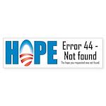 Error 44 - Not Found Bumper Sticker (50 pk)