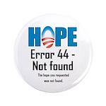 """Error 44 - Not Found 3.5"""" Button"""