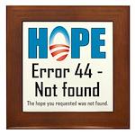 Error 44 - Not Found Framed Tile