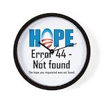 Error 44 - Not Found Wall Clock