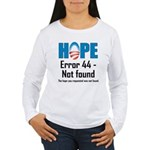 Error 44 - Not Found Women's Long Sleeve T-Shirt