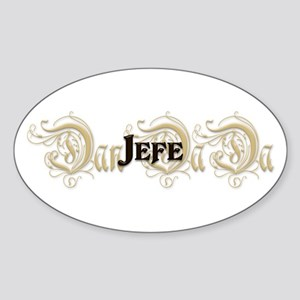 el Jefe Oval Sticker