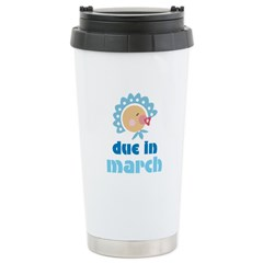 Boy Baby Due In March Stainless Steel Travel Mug