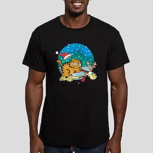 Odie Reindeer Men's Fitted T-Shirt (dark)