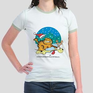 Odie Reindeer Jr. Ringer T-Shirt
