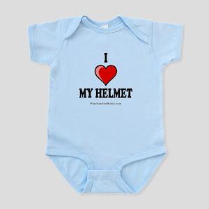 I Love My Helmet Onesie