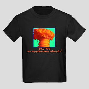 Say No To Mushroom Clouds Kids Dark T-Shirt