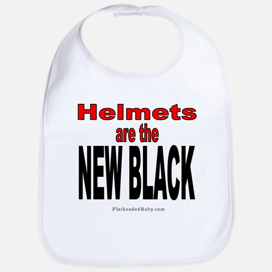 Helmets are the New Black (Red Letters) Bib