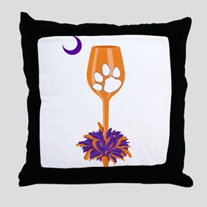 Tipsy Tiger (Orange) Throw Pillow